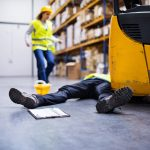 Warehouse Worker Passes Out on the Concrete Floor